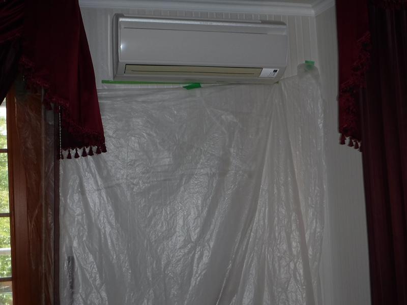 壁付型エアコン清掃